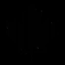 Código de barras de la hoja de arce