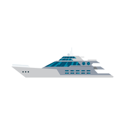 Megayacht ship icon