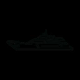 Megayacht ship line