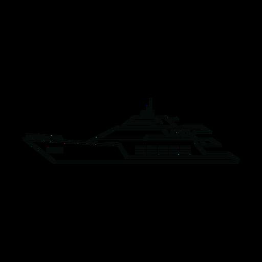 Megayacht ship line Transparent PNG