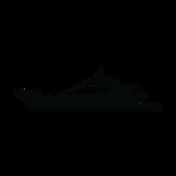 Megayacht Schiff Silhouette