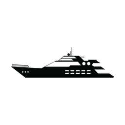 Megayacht ship silhouette
