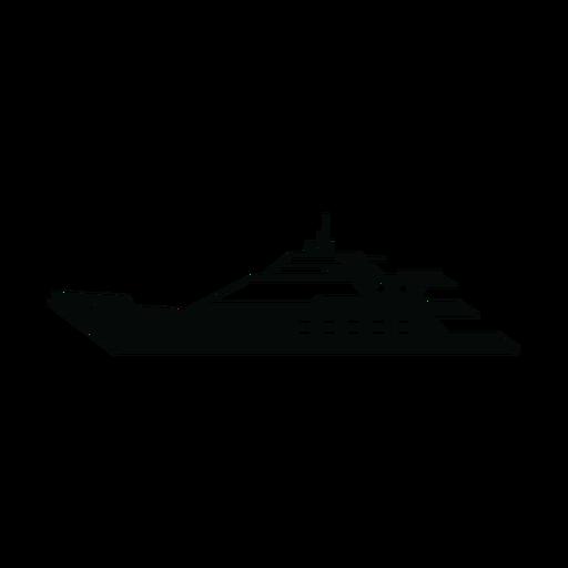 Megayacht ship silhouette Transparent PNG