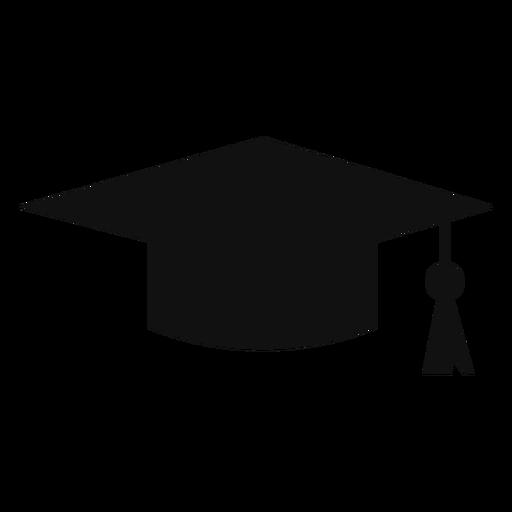 Mortarboard cap silhouette