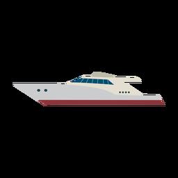 Icono de barco de yate de motor