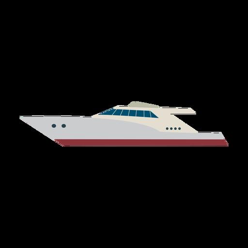 Icono de barco de yate a motor Transparent PNG