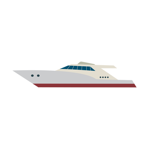Motor yacht ship icon Transparent PNG
