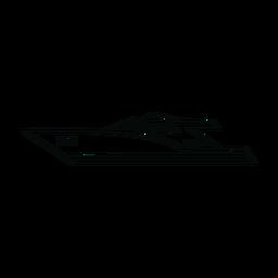 Motor yacht ship line