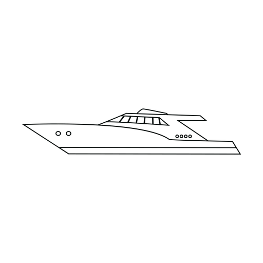 Motor yacht ship line Transparent PNG
