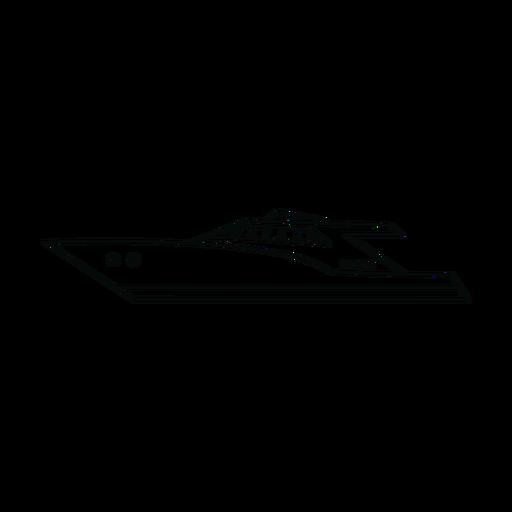 Yate de motor en linea Transparent PNG
