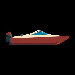 Ícone de barco a motor