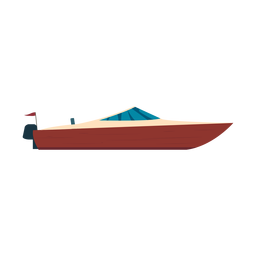 Motorboat boat icon