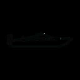 Motorboat boat line
