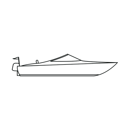 Motorboat boat line Transparent PNG
