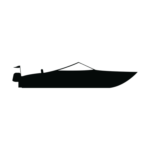 Motorboat boat silhouette Transparent PNG