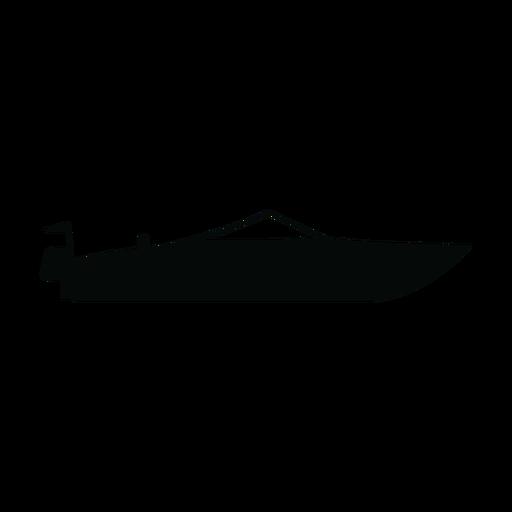Motorboat boat silhouette