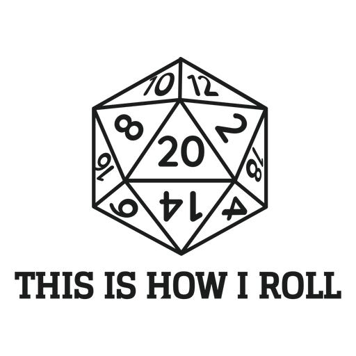 Multi sided dice t shirt graphic