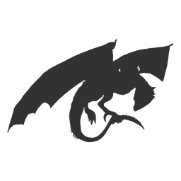 Silhueta de dragão mítico