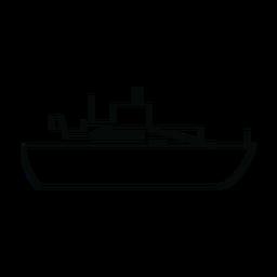 Línea de barco de línea de océano
