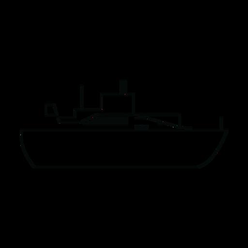 Línea de barco de línea de océano Transparent PNG