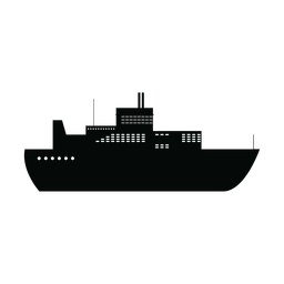 Ocean liner ship silhouette