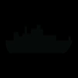 Silhueta de navio de forro de oceano