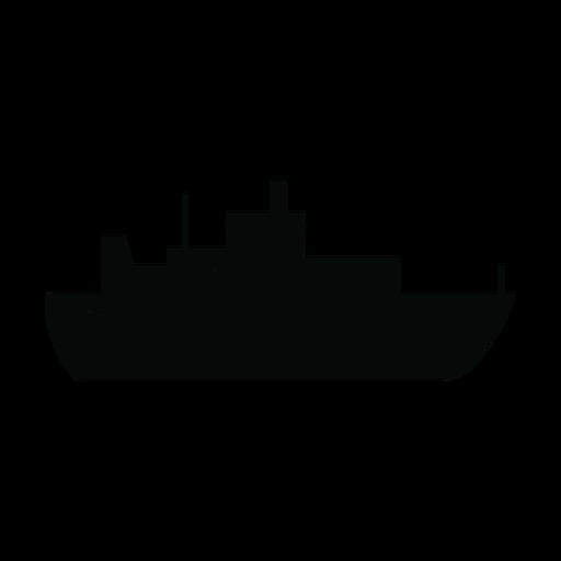 Silueta de barco transatlántico Transparent PNG
