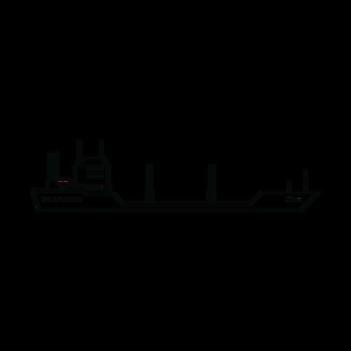 Línea de buque petrolero