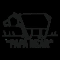 Gráfico de la camiseta del oso del papá