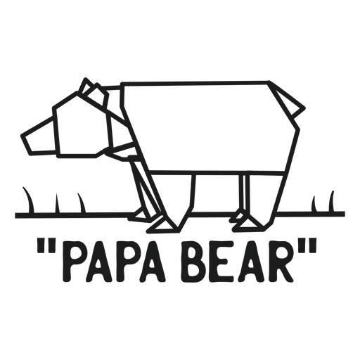 Papa bear t shirt graphic Transparent PNG