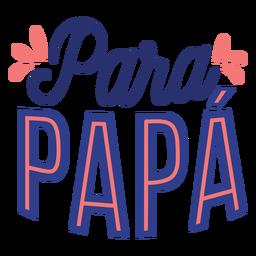 Para Papa Schriftzug