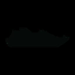 Silhueta de navio de passageiros