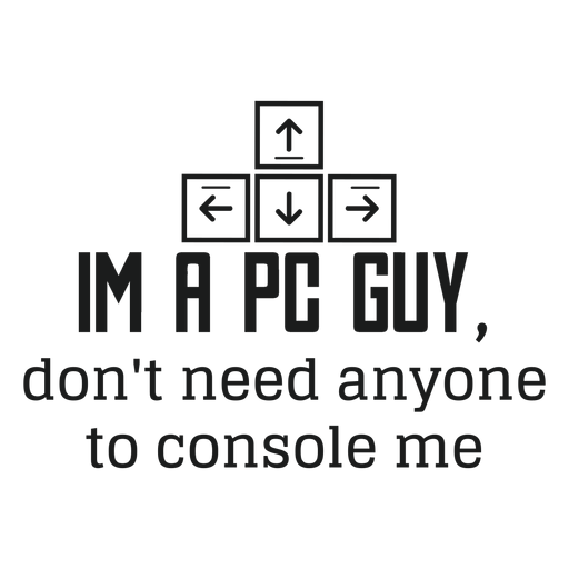 Pc guy t shirt gráfico Transparent PNG