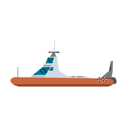 Ícone de barco de patrulha da polícia