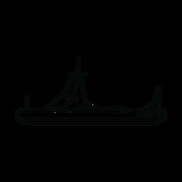 Linha de barco de patrulha da polícia