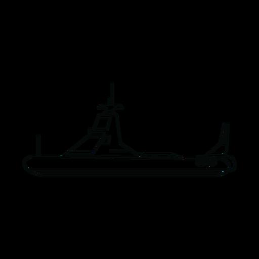 Linha de barco de patrulha da polícia Transparent PNG