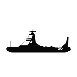 Polizei Patrouillenboot Silhouette