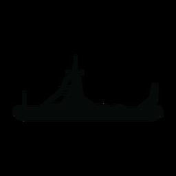 Silhueta de barco de patrulha de polícia