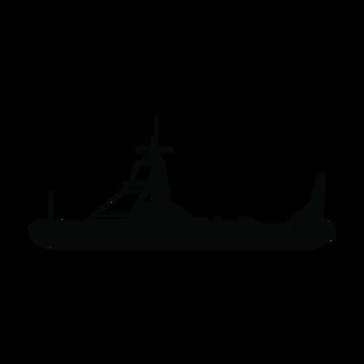 Silhueta de barco de patrulha de polícia Transparent PNG