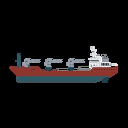 Ícone de navio petroleiro de reabastecimento