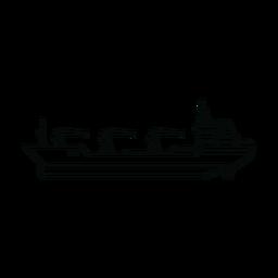 Linha de navio petroleiro de reabastecimento