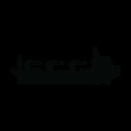 Silhueta de navio petroleiro de reabastecimento