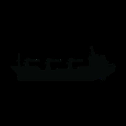 Nachschuböler Schiff Silhouette Transparent PNG