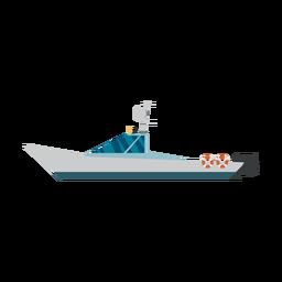 Ícone de barco de runabout