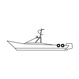 Linha de barco runabout