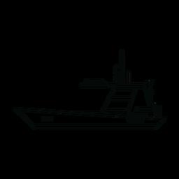 Línea de barco de vela