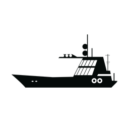 Silhueta de barco à vela