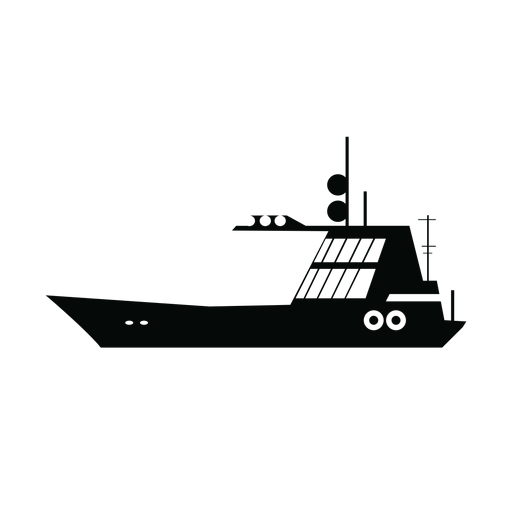 Sailing boat silhouette Transparent PNG