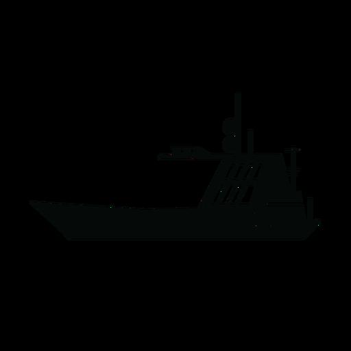 Silhueta de barco à vela Transparent PNG