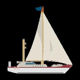 Ícone de navio de iate à vela